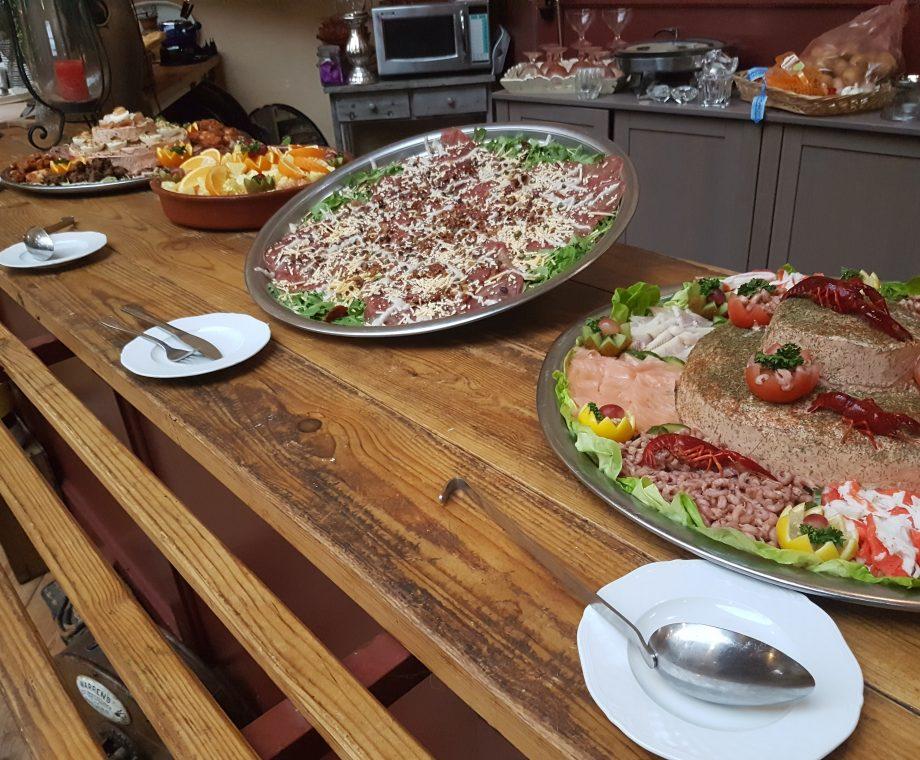 3 gangen buffet